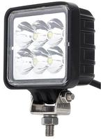 1Pair 3 Inch 1530LM 12V 24V 18W Waterproof Square LED Car Work Light For Motorcycle