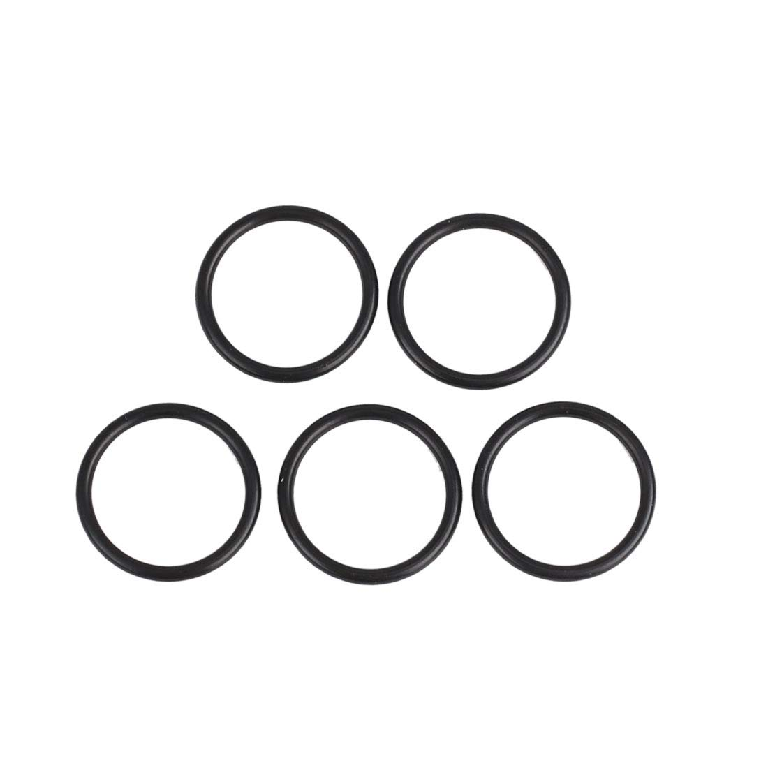 X AUTOHAUX 5pcs JIS Black NBR70 Rubber O-Ring Washer Sealing Gasket For Car 14 X 1.5mm