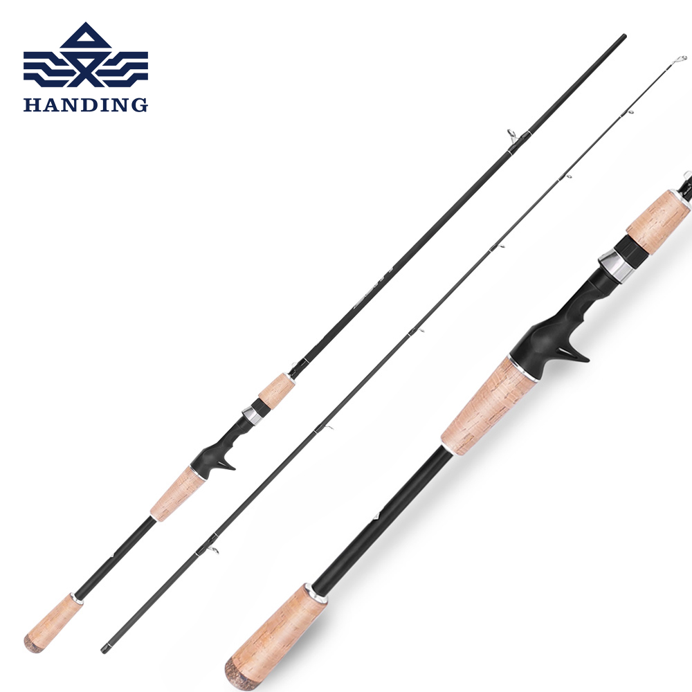 Handing Lure fishing Rod high Carbon fiber baitcasting rod cork handle casting fishing pole Ultra light spinning Fishing Rod new packer casting pole eva pistol grip handle excellent for bait casting fishing rod trolling fishing rod