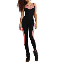 Women Summer Backless Bodysuit Tight Yoga Gym Running Sport Fitness Set Jogging Sportswear Pants Jumpsuit Tracksuit Trouser Sets