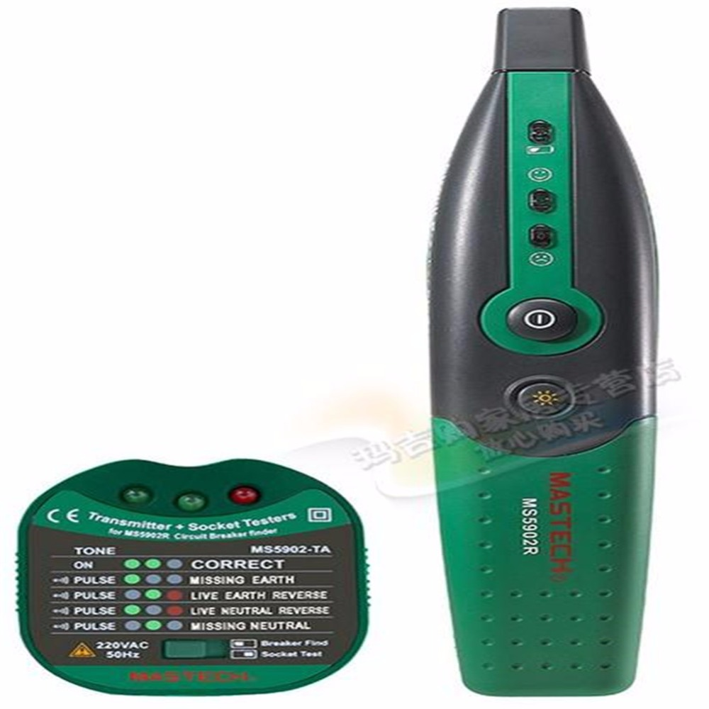 ФОТО Mastech MS5902 Circuit Breaker Finder Socket Tester Finder Instruction Fully Automatic Electric Test Tecrep Meter