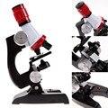 2016 Venda Quente Kit 100X-1200X Microscópio Ciência LabHome Escola Gift Toy Educacionais Para Crianças