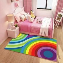 Cartoon Carpet Princess Baby Crawling Mat Childrens Room Bedside Blanket Livingroom Puzzle Machine Washable