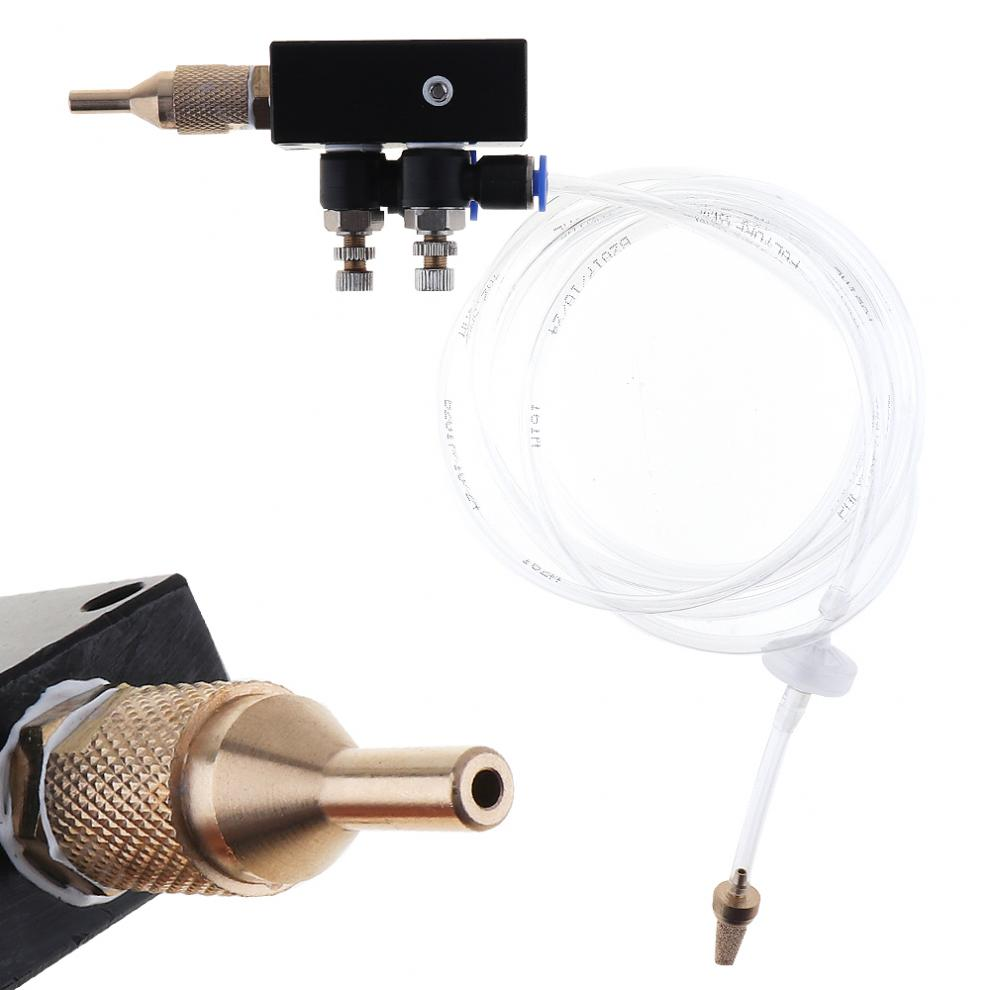 Buy Mist Coolant Lubrication Spray System Flexible Pipe Check Valve Metal Cutting Engraving Cooling Machine