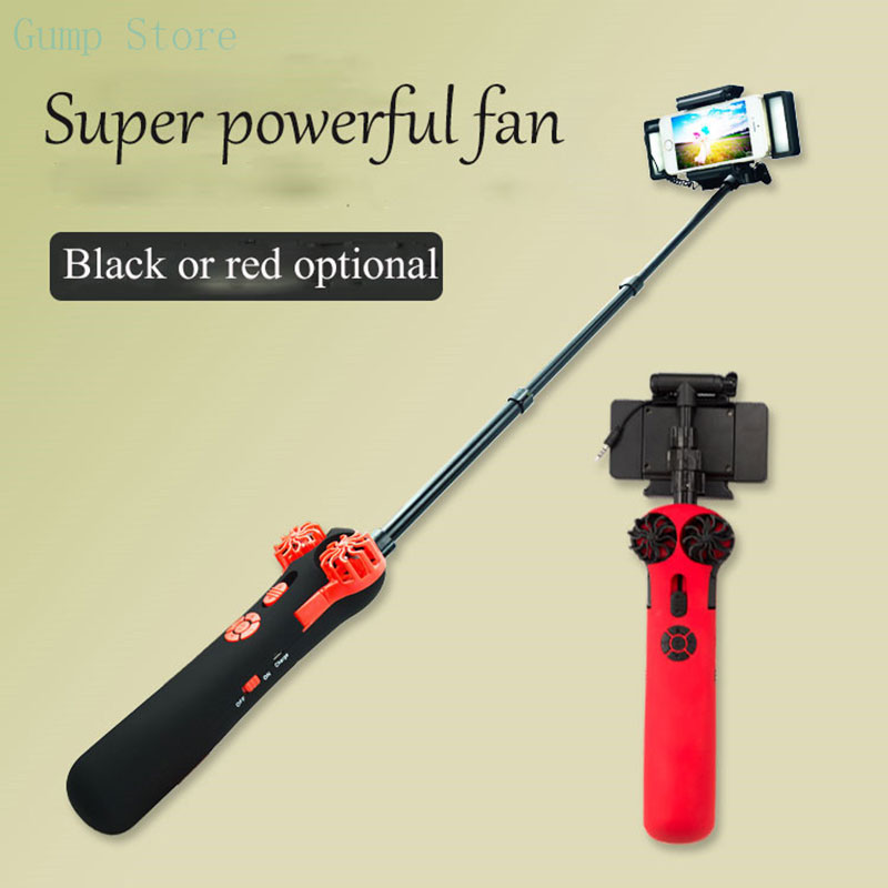 Electric telescopic fill light Selfie Stick scalable with fill light powerful fan Flashlight Automatically Selfie Stick for girl rock rot0770 selfie stick night led fill light blue