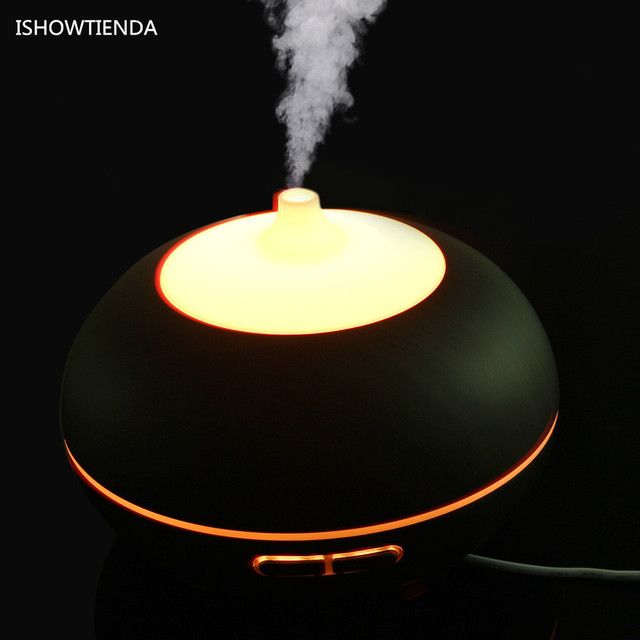 ISHOWTIENDA Home Office LED Essential Oil Aroma Diffuser Ultrasonic Wooden  Humidifier Air Aromatherapy Atomizer Luxury Decor