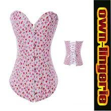 Free shipping strawberry pattern cheap corset women's clothing intimates shapers fashion corset w3328