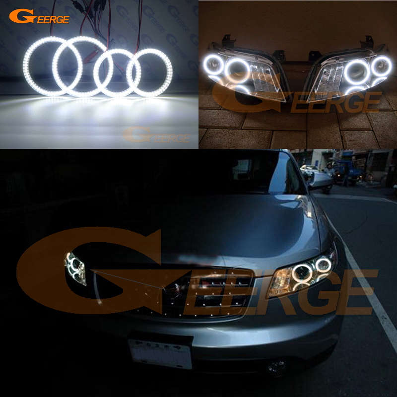 For INFINITI FX35 FX45 2003 2004 2005 2006 2007 2008 smd led Angel Eyes kit Excellent Ultra bright illumination DRL