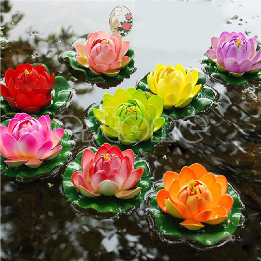 Floating lotus flower aquatic fish tank ornament aquarium garden floating lotus flower aquatic fish tank ornament aquarium garden pond decor new in decorations from home garden on aliexpress alibaba group izmirmasajfo