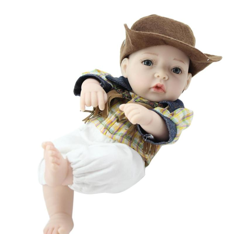 26cm Lovely Reborn Baby Doll Realistic Soft Silicone 3D Lifelike Simulation Dolls With Cloth Cute Boy Kids Accompany Toys Gift26cm Lovely Reborn Baby Doll Realistic Soft Silicone 3D Lifelike Simulation Dolls With Cloth Cute Boy Kids Accompany Toys Gift