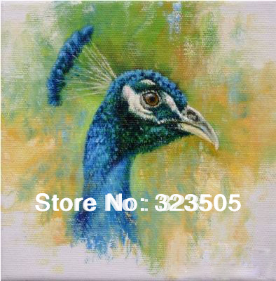 Peacock paintings on canvas for Oil paintings for sale amazon