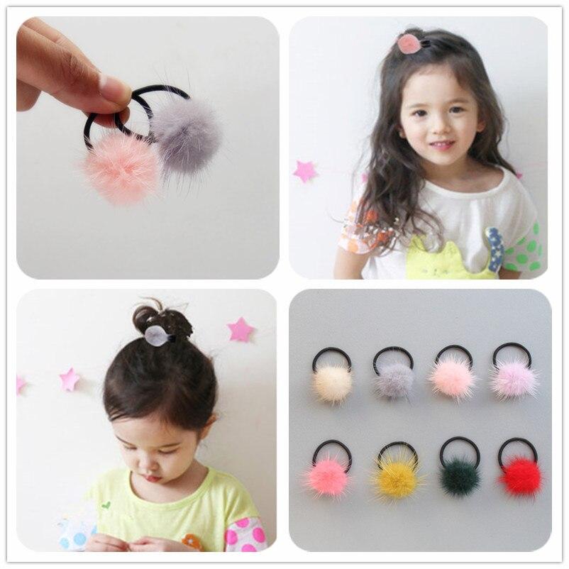 Children Hair Ropes Hair Ball Pearl Elastic Rubber Hair Band Pendant Girls Hair Accessories   Headwear   Kids Headdress