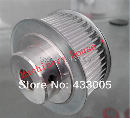 купить Free Shipping Laser machine parts HTD3M-48 tooth bore 10mm Synchronizing wheels timing pulley