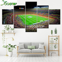 YOGOTOP 5d Diy Diamond Painting Five-Piece Set Spanish FC Barcelona Sports Football Picture Embroidered Square Dia ML788
