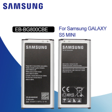 Samsung Original EB-BG800CBE/BBE Replacement Phone Battery 2100mAh Spare for Samsung GALAXY S5 Mini S5MINI SM-G800F G870a G870W samsung original replacement battery bateria s5 eb bg800cbe for samsung galaxy s5 mini s5mini g800f 2100mah s5mini g870a g870w