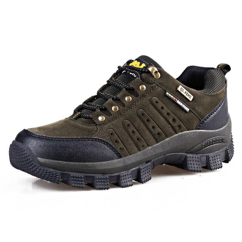 Vancat 2019 nueva marca de Moda de Primavera zapatillas de deporte al aire libre zapatos impermeables para hombres zapatos de combate Casual desierto de talla grande 36-47