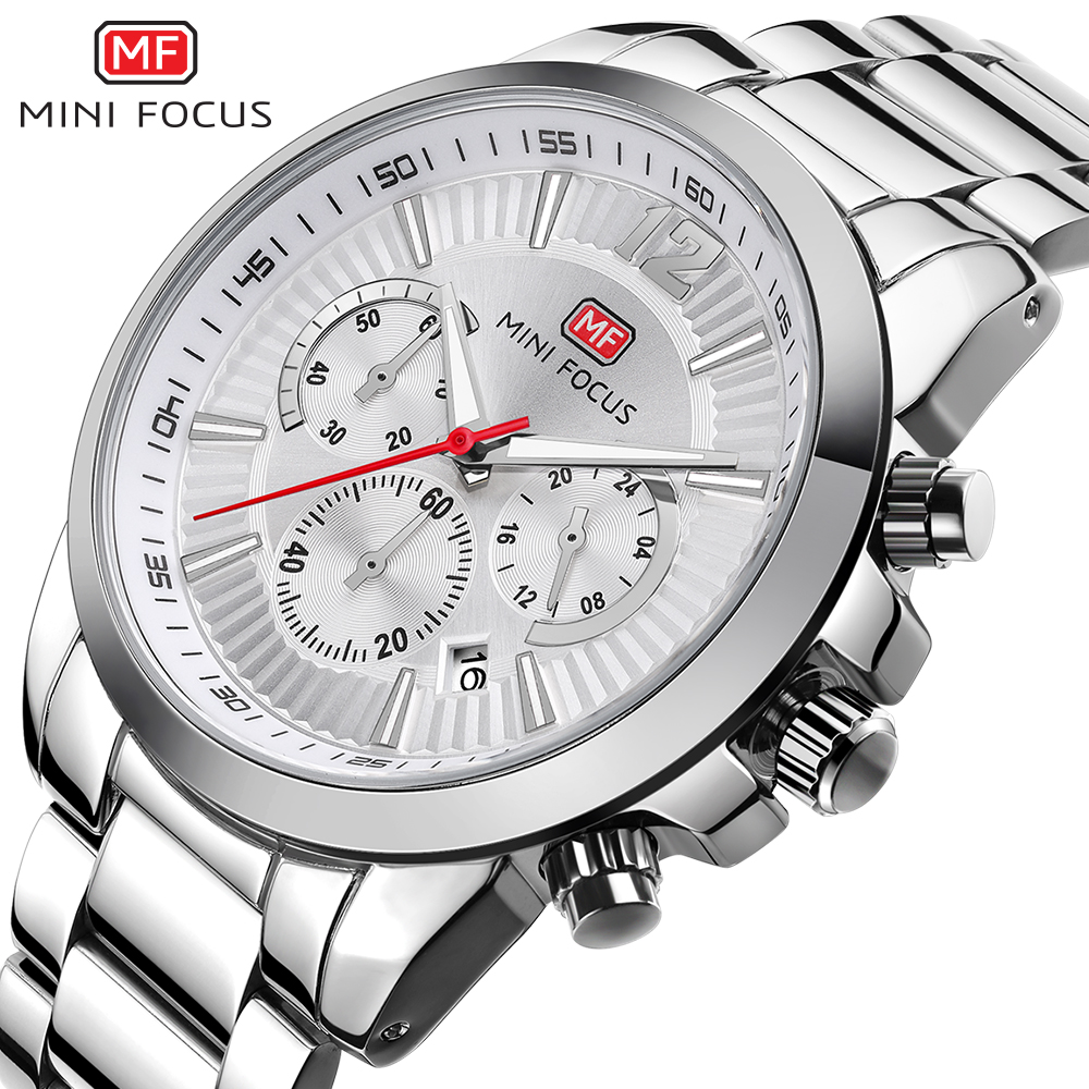 Herrenuhren Minifokus Herren Armbanduhr Uhren Männer Luxury Brand Wasserdichte Edelstahl Mode Uhr Montre Homme Männlichen Uhr 2018