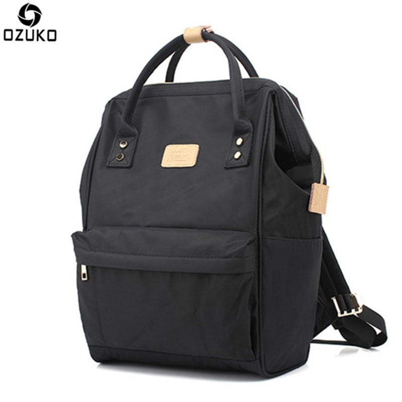 OZUKO Men Backpack New Multi Function Fallow Portable Dual Use Notebook Bags Men Women Backpack Middle