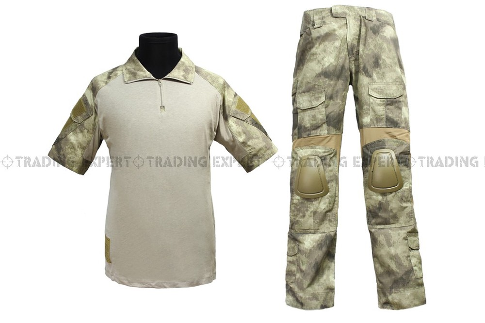 Us Army Military Uniform For Men EMERSON Combat Uniform - Summer Edition (A-TACS Marpat Woodland AOR1) Em6918