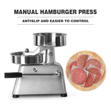 ITOP Manual Hamburger Press Forming Machine 150mm Patty Maker With 500pcs Burger Paper Round Meat Press Food Processors IT-150 itop 100mm 130mm manual hamburger press burger forming machine patty maker round meat pie shapping machine
