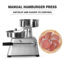 ITOP Manual Hamburger Press Forming Machine 150mm Patty Maker With 500pcs Burger Paper Round Meat Press Food Processors IT-150