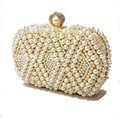 100% NEW pearls clutch bag luxury diamond evening bags gold clutch silver purse shinny glitter wedding bridal wallets w551