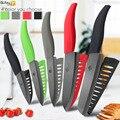 Cuchillo de cerámica 6 5 4 3 pulgadas Chef de cocina cuchillos Zirconia hoja negra de cortar de cocina vegetal de la fruta cortador de carne herramienta
