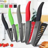 Cuchillo de cerámica 6 5 4 3 pulgadas cuchillos de Chef de cocina Zirconia hoja negra herramienta de corte de carne de verduras