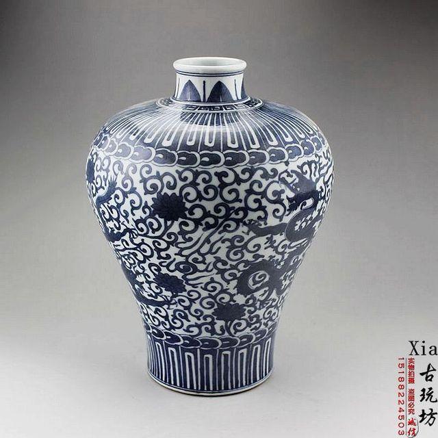 Jingdezhen porzellan antiken blauen und weißen porzellan drachen ...