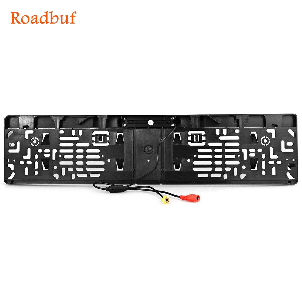 European Car Licence Plate Car Rear View Camera 7 LED Night Vision Vehicle Rearview Camera Waterproof 170 Degree Viewing Angle waterproof vehicle car rearview camera ntsc