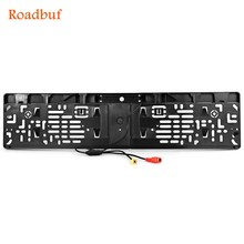 European Car Licence Plate Car Rear View Camera 7 LED Night Vision Vehicle Rearview Camera Waterproof 170 Degree Viewing Angle