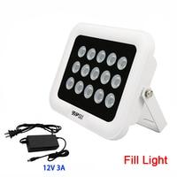 12V 3A Outdoor Surveillance CCTV Camera 850nm 15Pcs Array Infrared 42mil Led Fill Night Vision illuminator Lamp Free shipping