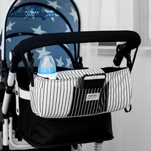 SeckinDogan Mummy Bag Multifunctional Baby Stroller Back Pocket Waterproof Large Capacity Storage Bag Fashion Striped Diaper Bag
