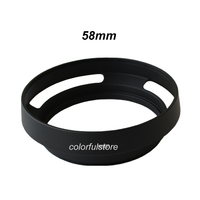 58 Mm 58mm Black Hollowed Hollow Camera Lens Lenses Hood Shade Cover For Canon Rebel T5