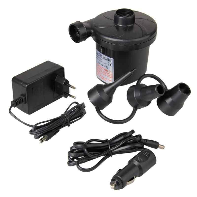 EU Plug Elektrische Luchtpomp DC12V/AC230V Inflate Deflate Pompen Auto Inflator Electropump met 3 Nozzles