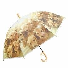 Hot cute animal pattern semi-automatic long-handled sun sunscreen rain umbrella for men and women children 053