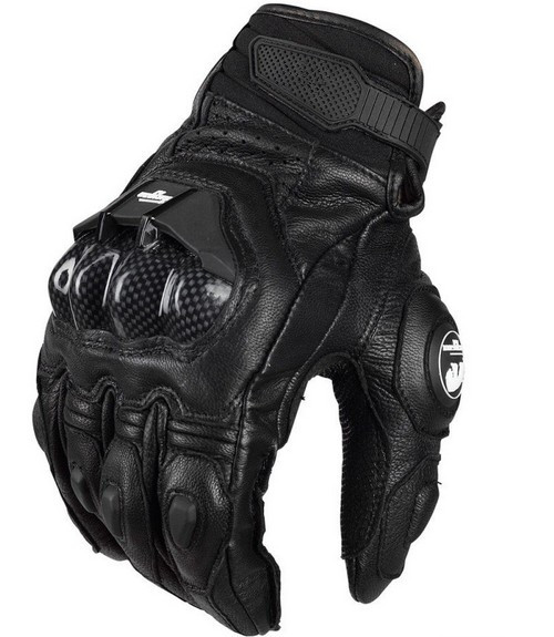 Hot Fashion Casual Men's Leather Gloves AFS6 Motorcycle Protective Gloves Racing Cross Country Gloves