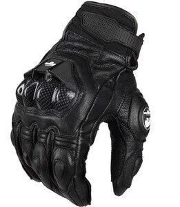 Image 1 - Hot Mannen Lederen Moto Rbike Handschoenen AFS6 AFS10 Moto Rcycle Beschermende Handschoenen Moto Cross Handschoenen Guanti Moto