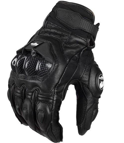 Hot Mannen Lederen Moto Rbike Handschoenen AFS6 AFS10 Moto Rcycle Beschermende Handschoenen Moto Cross Handschoenen Guanti Moto
