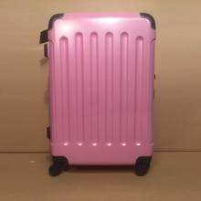 24 inch PC bright flour color suitcase Men and women fashion lockbox pull rod box