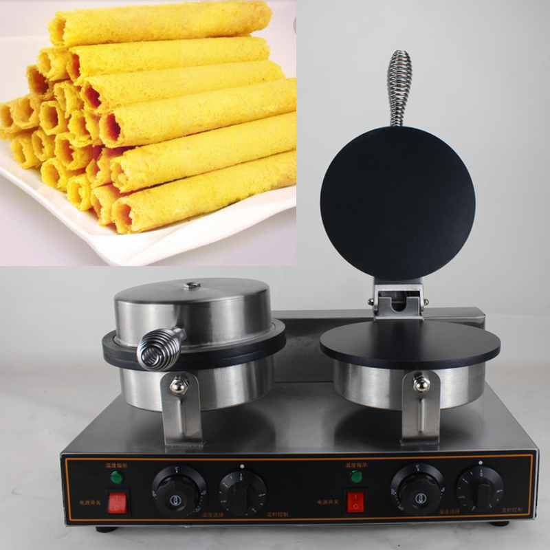 free shipping egg Roll Making Machine|Waffle Stick Making Machine|Stainless Steel Sesame Egg Roll Machine stainless steel automatic egg roll machine for sale