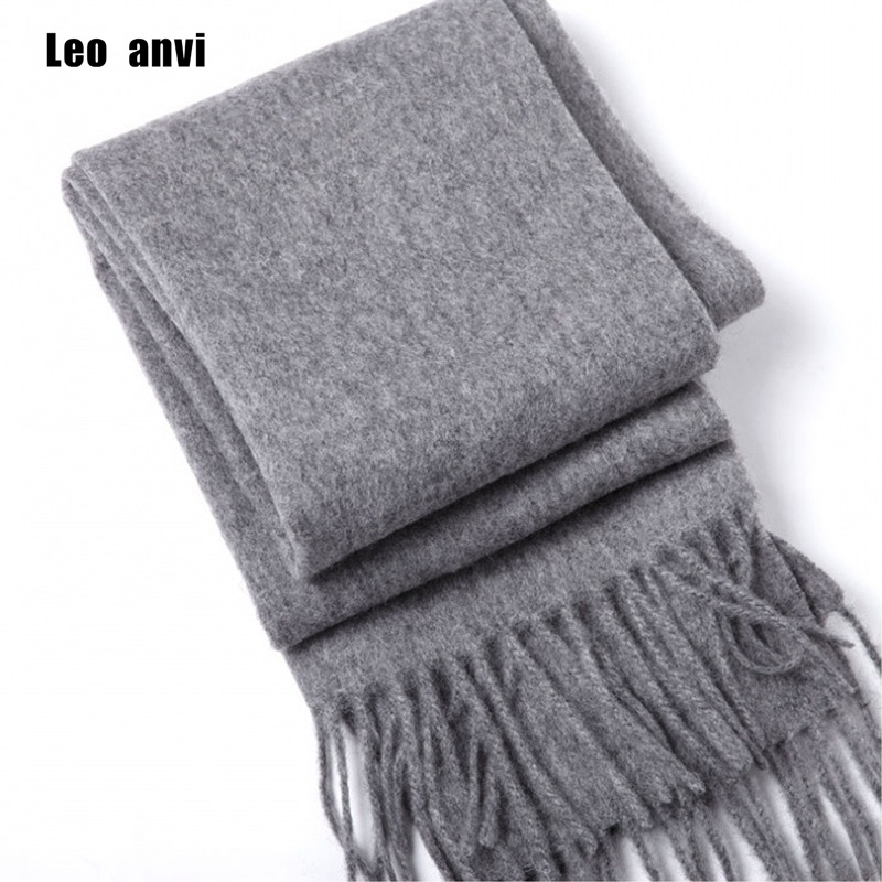 luxury brand Winter scarf 100% wool cashmere shawls bandana women scarf fashion and wraps gray men scarf poncho pashminas ...