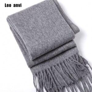 Image 1 - luxury brand Winter scarf 100% wool cashmere shawls bandana women scarf  fashion and wraps gray men scarf poncho pashminas