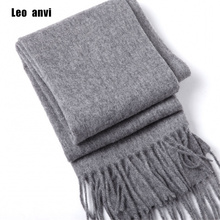 luxury brand Winter scarf 100% wool cashmere shawls bandana women scarf fashion and wraps gray men scarf poncho pashminas(China)