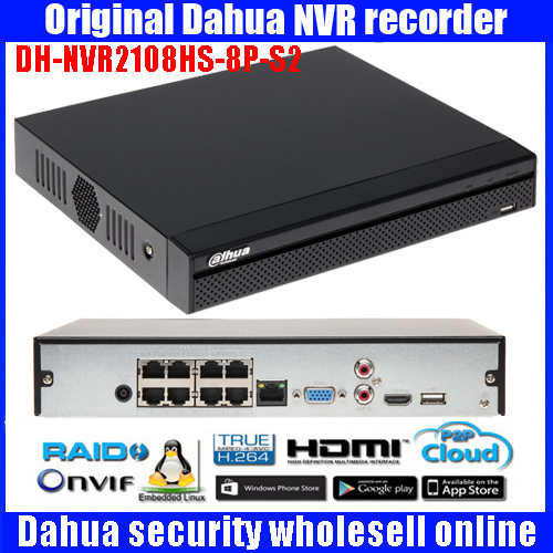 Dahua Original NVR PoE 4CH 8CH DH NVR2104HS P S2 DH NVR2108HS 8P S2 up to