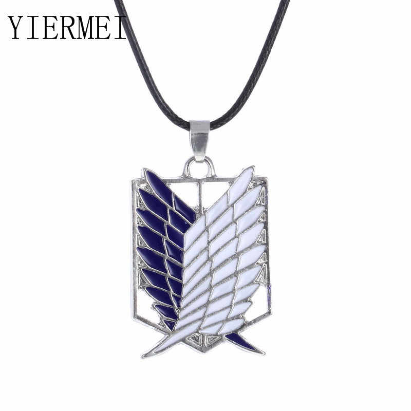 Anime Pendant Pendant Necklace Attack Titan Boy Scarlet Logo Necklace Inquiry Body Erwin Smith Accessories Jewelry