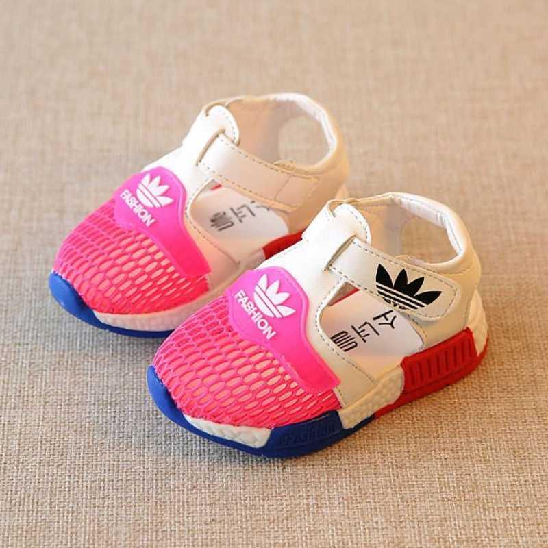 Zapatos casuales de verano para niños, niñas, malla de aire, niños, niñas, sandalias de playa, sandalias deportivas de moda para niños, tamaño 15 -25