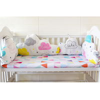 1 Pcs DIY Baby Room Decor Pillows In Crib 45 60 70 Cm Clouds Shape Bumpers