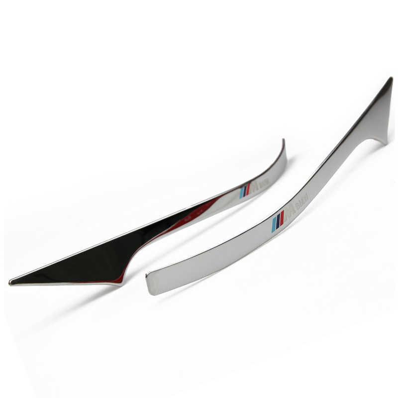 2 uds. Espejo retrovisor de acero inoxidable tiras decorativas coche estilizado Exterior 3D pegatinas para BMW 5 Series F10 F18 2011-2017