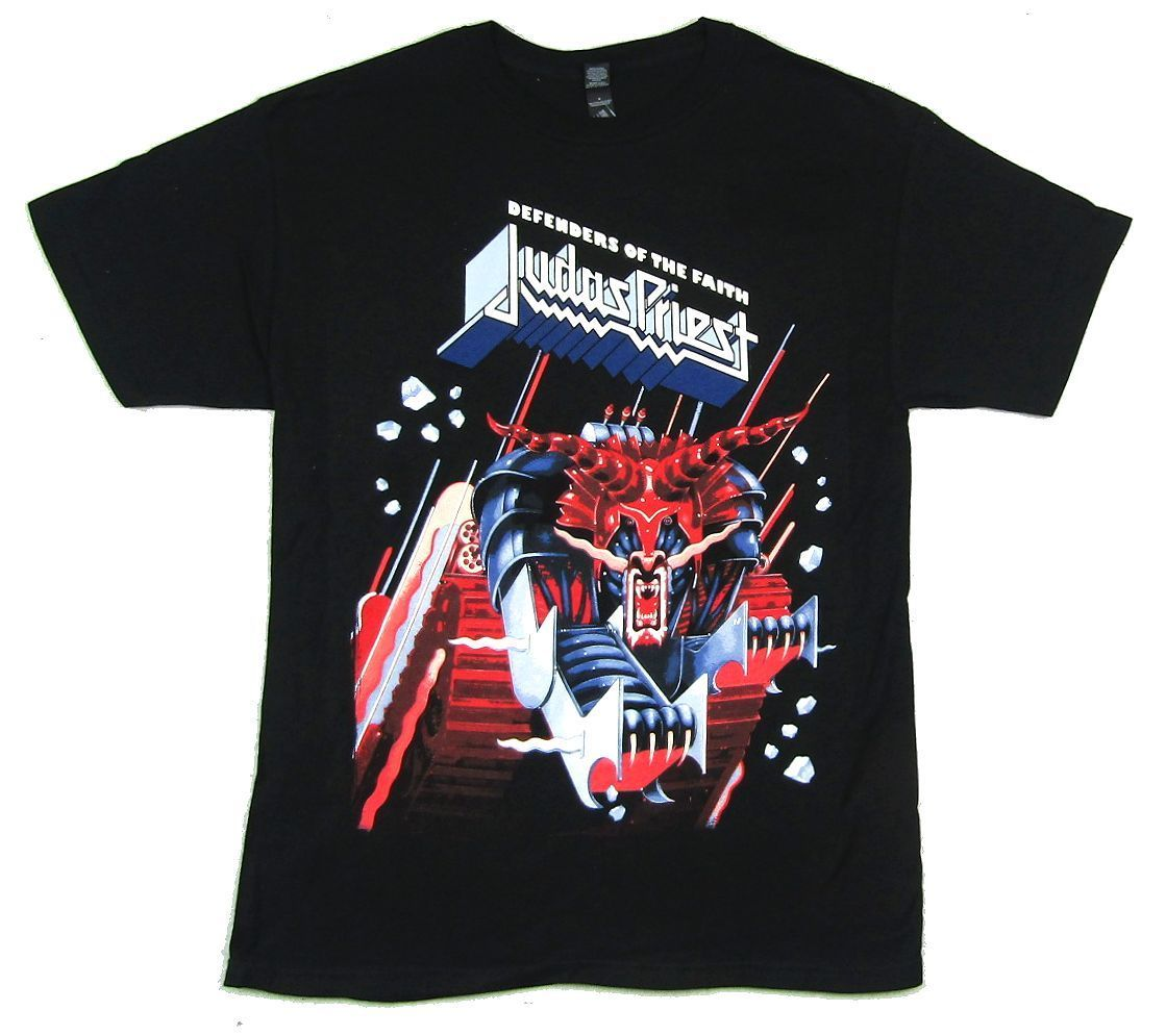 Judas Priest Defenders Of The Faith 30th Anniversary T Shirt New Official Merch T-Shirt For Men/Boy Short Sleeve Cool Tees
